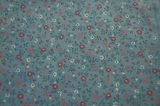 Patchwork coupon tissu coton américain Concord 45 cm x 55 cm Petites fleurs gris
