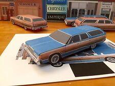 Papercraft Chrysler Town & Country Blue PaperCar EZU-Make-It 74'-77' ToyModelCar