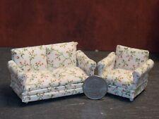 Dollhouse Miniature Sofa & Chair Cream 1:24 Half scale 1/2 K27 Dollys Gallery
