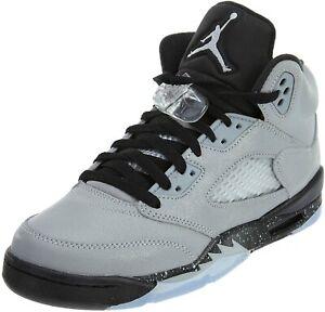 Unisex Kids Boys Girls Nike Air Jordan 5 GG Basketball Grey trainers 440892 008