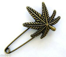 Bijou / broche épingle couleur bronze - Feuille / Brooch pin jewel -Leaf of tree