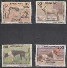 Burkina Faso postfris 1989 MNH 1214-1217 - Honden / Dogs (h073)