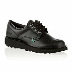 Kickers Kick Low Leather Black (Z18) KF0000106-BTW Back to School Mens Shoes