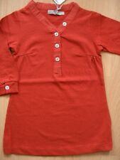 (x227) Imps & Elfs Baby Manica Lunga Vestito A-forma scollo a V + logo ricamate gr.62