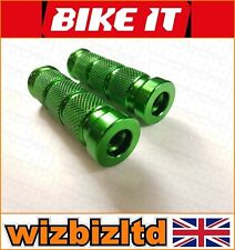DOS MOTO Base clavijas para estriberas (12mm Moleteado anodizado verde) foot12gn