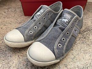 Mustang Women's Slip On Canvas Shoes - silver UK6 EU39 US8