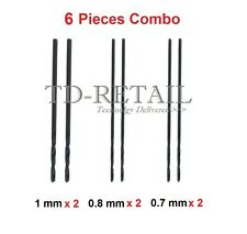 Combo Pack PCB Micro Drill Bits 0.7mm - 0.8mm - 1mm High Quality Bits - 6 Pieces