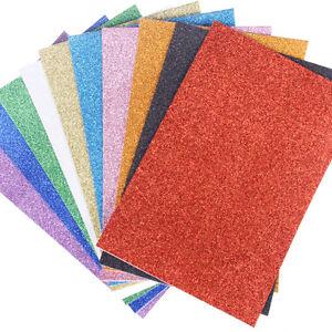Glitter EVA Foam Sheets, 13-Inch x 18-Inch, 10-Pack