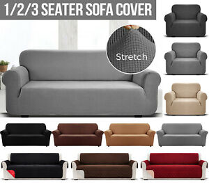 Sofa Covers 1 2 3 Seater Elastic Stretch Settee Sofa Slip Cover Protector Couch