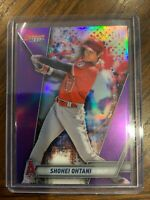 SHOHEI OHTANI 2019 BOWMAN'S BEST BASEBALL PURPLE PARALLEL CARD 007/250- ANGELS