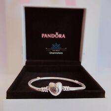 New Genuine Pandora Silver Moments Heart Clasp Charm Bracelet 590719 RRP£55