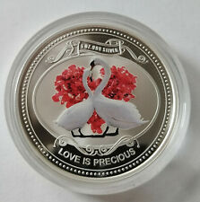 Niue 2 dollars  2010 Love is precious  Swans Bird  Silver 1 oz     №3