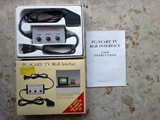 PC/SCART TV RGB INTERFACE - ORIGINALE VINTAGE non TESTATO in perfetto stato!