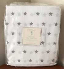 Pottery Barn Kids Organic Star Sheet Set ~ Full ~ Gray