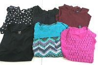 Wholesale Bulk Lot of 6 Women's Plus Size 2XL Professional Business Blouse Tops