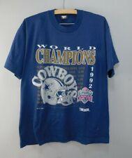 Original Vintage 1992 Super Bowl Champions Dallas Cowboys T-shirt Size XL