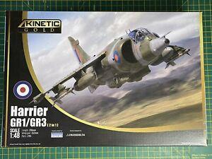 Kinetic Gold 1/48 BAe RAF Harrier GR.1/3 # 48060 Plastic Model Kit Falklands