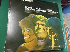 "Great Vintage LP Album DIONNE WARWICK-GLEN CAMPBELL-BURT BACHARACH ""On The Move"""