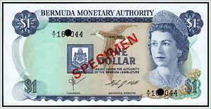 Bermuda 1 Dollar 1984 Pick 28  !!! SPECIMEN !!!