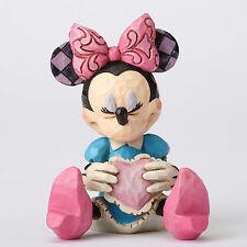 Disney Traditions Jim Shore MINNIE MOUSE holding Heart Mini Figurine 4054285