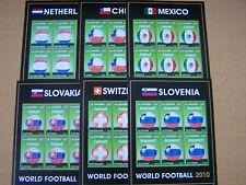 Gambia, 2010, WORLD FOOTBALL .6 diversi sheetlets, CAT £ 81.00. U/Nuovo di zecca. eccellente.