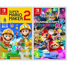 Nintendo Super Mario Maker 2 y Mario Kart 8 Deluxe Bundle-importación región libre