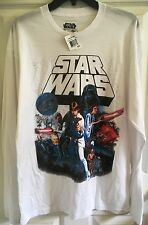 Mens Star Wars Large White Long Sleeve Tee Shirt (New With Tags)