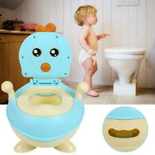 Portable Baby Toddler Lovely Toilet Seat Stool Potty Trainer (sky blue)