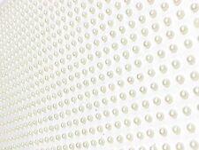 1500pcs x 3mm SINGLE PEARLS Self Adhesive IVORY  Stick On GEMS WEDDING CRAFT