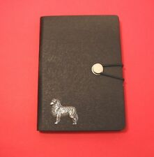 More details for australian shepherd motif a6 black soft touch journal father mothers useful gift