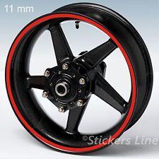 Adesivi ruote moto strisce cerchi STANDARD spess 11mm kit generico scelta colori