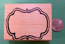 Mirror Frame Rubber Stamp, wood mounted
