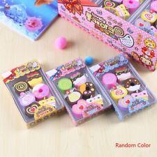6pcs Cake Erasor Preschool Kid Kindergarten School Mini Student Gift Eraser