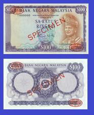 MALAYSIA 100 RINGGIT 1967 SPECIMEN UNC - Reproduction