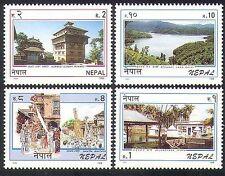 Nepal 1996 Lake/Temple/Festival/Tourism/Buildings/Architecture 4v set (n37206)