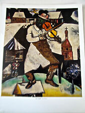 Marc Chagall Poster Print The Violinist Fiddler on Rooftop 14x11 Unsigned