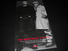 Pet Shop Boys are So Hard 1990 Music Biz Only promo display advert