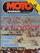 MOTO JOURNAL  305 KAWASAKI Z1000 Godier Genoud HONDA RCB Le TOUQUET DAYTONA 1977