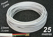 25M Roll x 2.5mm Electrical Cable Flat 3 core (2C+E) TPS Wire for Power Circuits