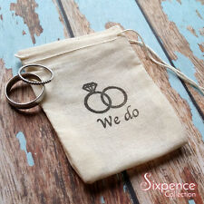 We do wedding band ring bag. Ring pillow alternative, ring bearer accessory.