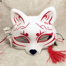 Ball Party Mask Cosplay Half Face Hand-Painted Japan Foxmask Kitsune  Fox Anbu