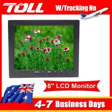 "Portable 8"" TFT LCD Colour Video Monitor Screen VGA BNC  DC12V For PC CCTV  HOT"
