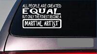 """Martial Artist equal Sticker *G682* 8"""" vinyl karate kung fu blackbelt mma"""