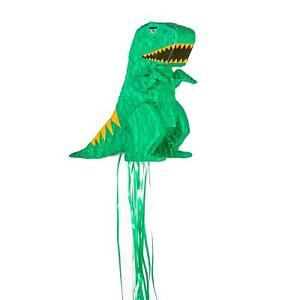 Dinosaur Pull String Pinata Game Toy Birthday Party Kids 15cm Green