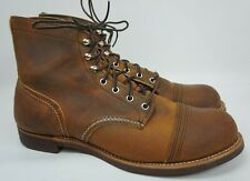 Red Wing Heritage 8085 Iron Ranger 6-Inch Cap Toe Men's Brown Boots Size 12 D