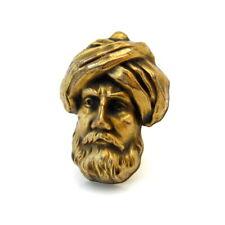 Vintage JOSEFF Bearded Man Wearing Turban Brooch, Signed People Figural Pin