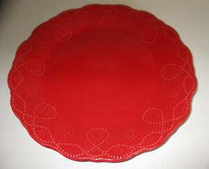 """Pioneer Woman Red Cowboy Lace Dinner Plate 10 3/4 """"Replacement Piece"""