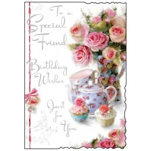 Special Friend Birthday Card With Verse Beautiful Luxury Card Made In UK JJ