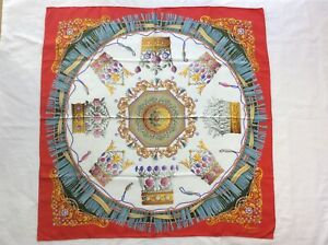 Gucci Crowns Silk Scarf 100%Authentic  87cm x 87cm + Free Shipping