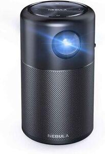 Anker Nebula Capsule, Smart Wi-Fi Mini Projector, Black, 100 ANSI Lumen Portable